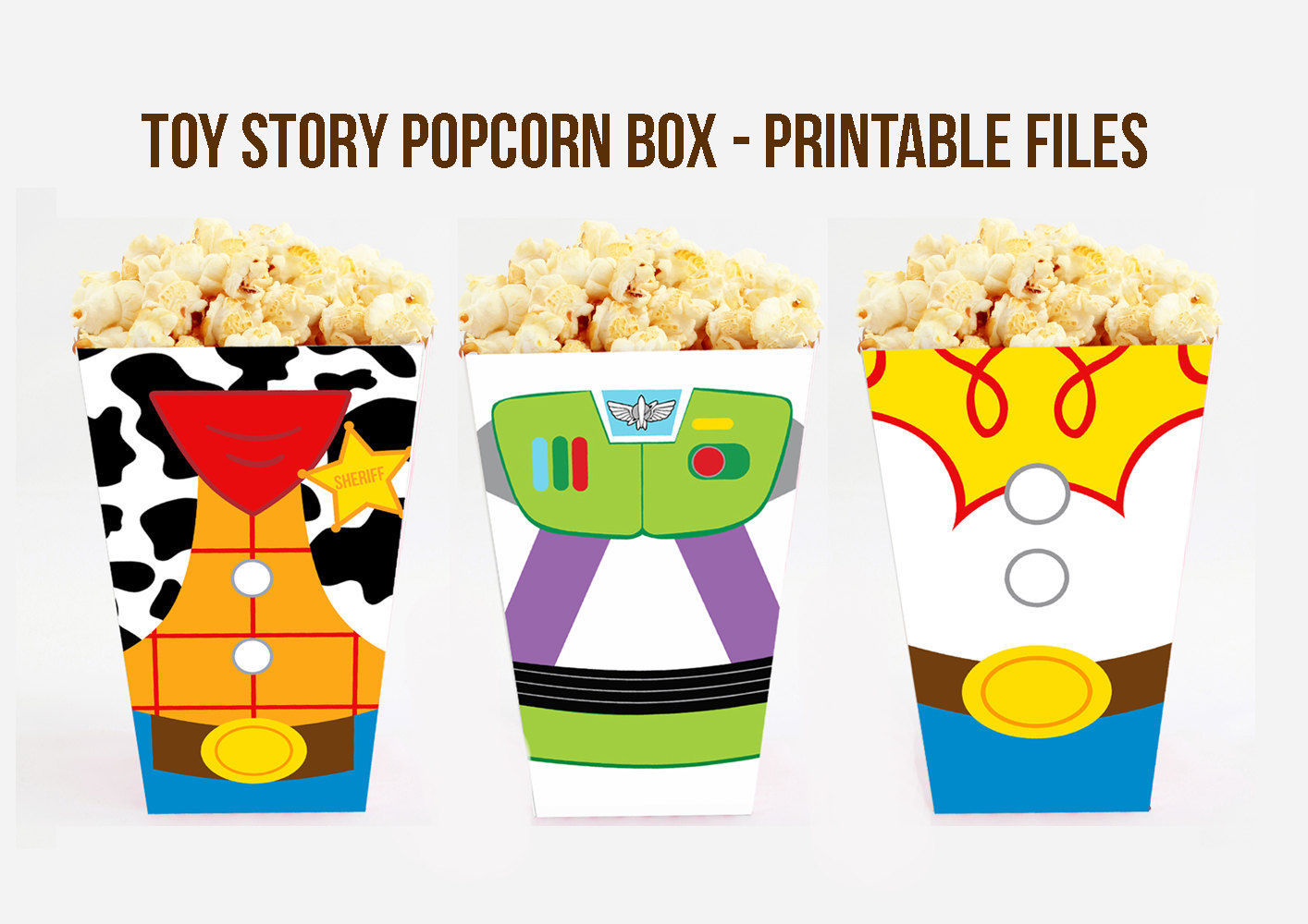 1414x1000 Toy Story Popcorn Box. Toy Story Treat Box. Toy Story