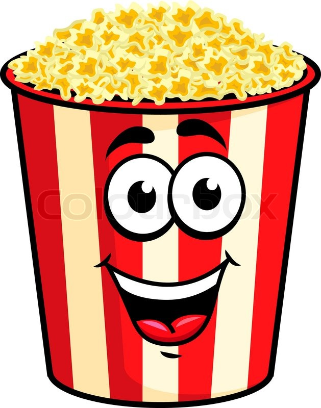 629x800 Cartoon Happy Cute Popcorn Character For Fastfood Design Stock