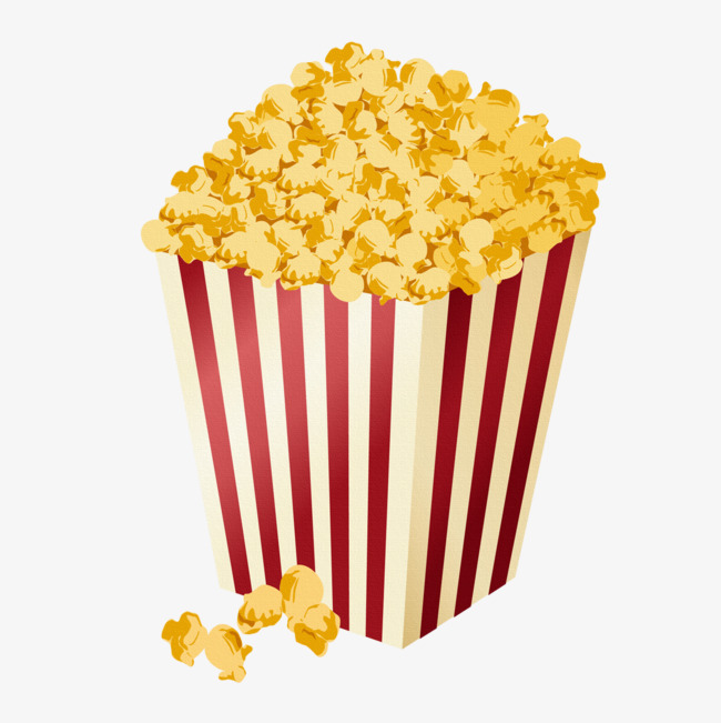 650x651 Cartoon Popcorn, Popcorn, Food, Cartoon Png Image For Free Download