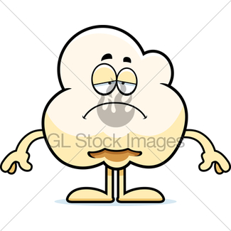 325x325 Angry Cartoon Popcorn Gl Stock Images