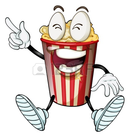 427x450 Cheerful Corn Bucket Of Popcorn. Corn And Popcorn Forms A Perfect