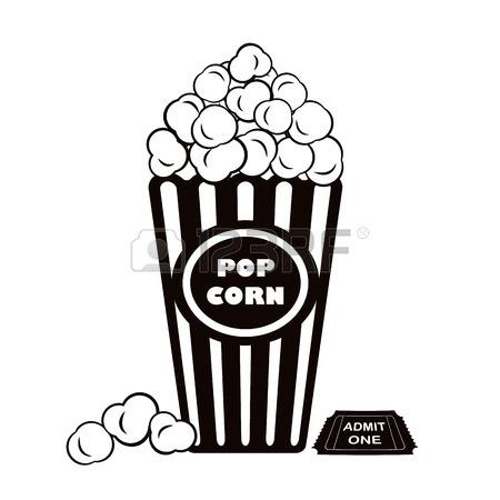 450x450 Vector Illustration Of The Popcorn Explosion On Blue Grunge Burst