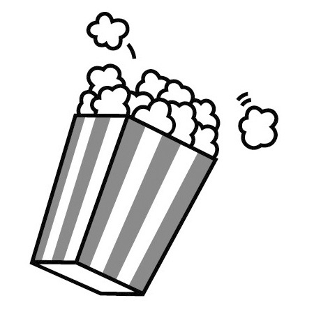Popcorn Clipart Black And White on dog scarf