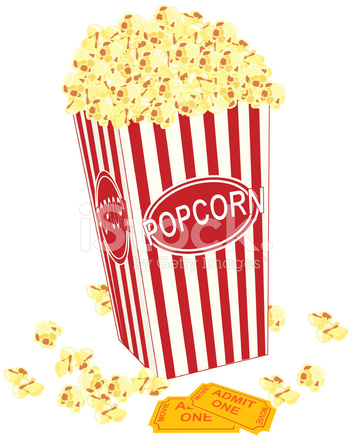 352x440 Movie Popcorn Stock Vector