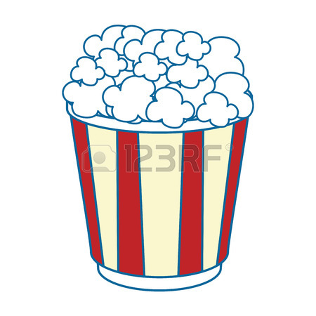 450x450 Popcorn Bucket Over White Background Graphic Royalty Free Cliparts