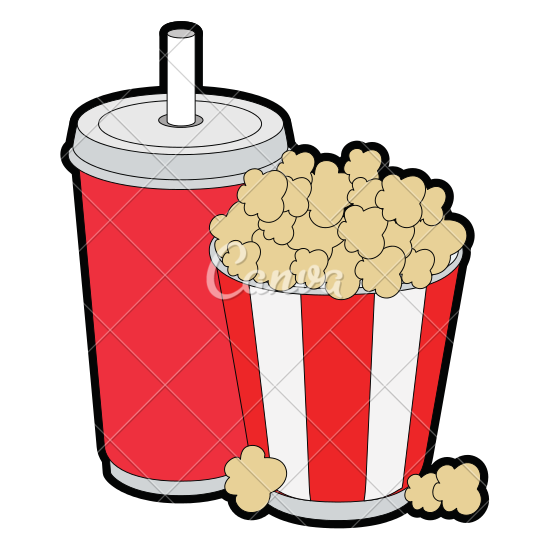 550x550 Popcorn Bucket And Soda Icon
