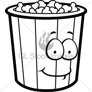 325x325 Popcorn Smiling Gl Stock Images