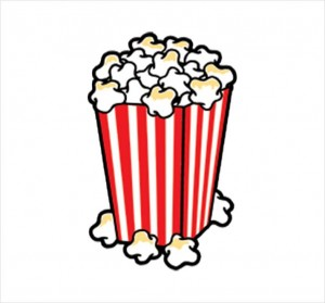 300x279 Popcorn Clipart Loose