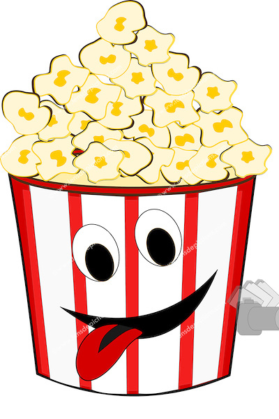 400x600 Popcorn Tub Funny Vector Illustration. Lensdepictions