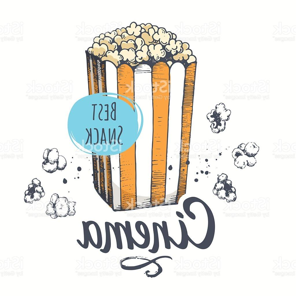 1024x1024 Best 15 Vector Illustration With Sketch Popcorn Bucket Design
