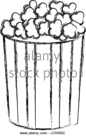 298x470 Clip Art Popcorn Stock Photo, Royalty Free Image 116273084