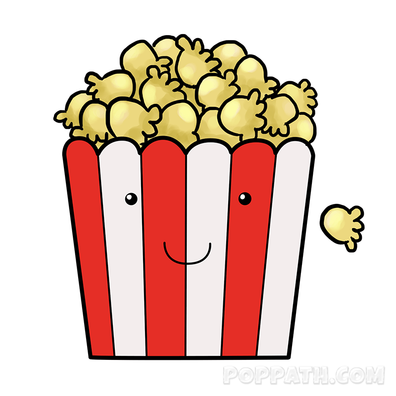 Popcorn kawaii. Picture free download best