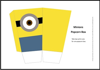 400x282 Busy Hands Minions Popcorn Box (Free Printable) Sand In My Toes