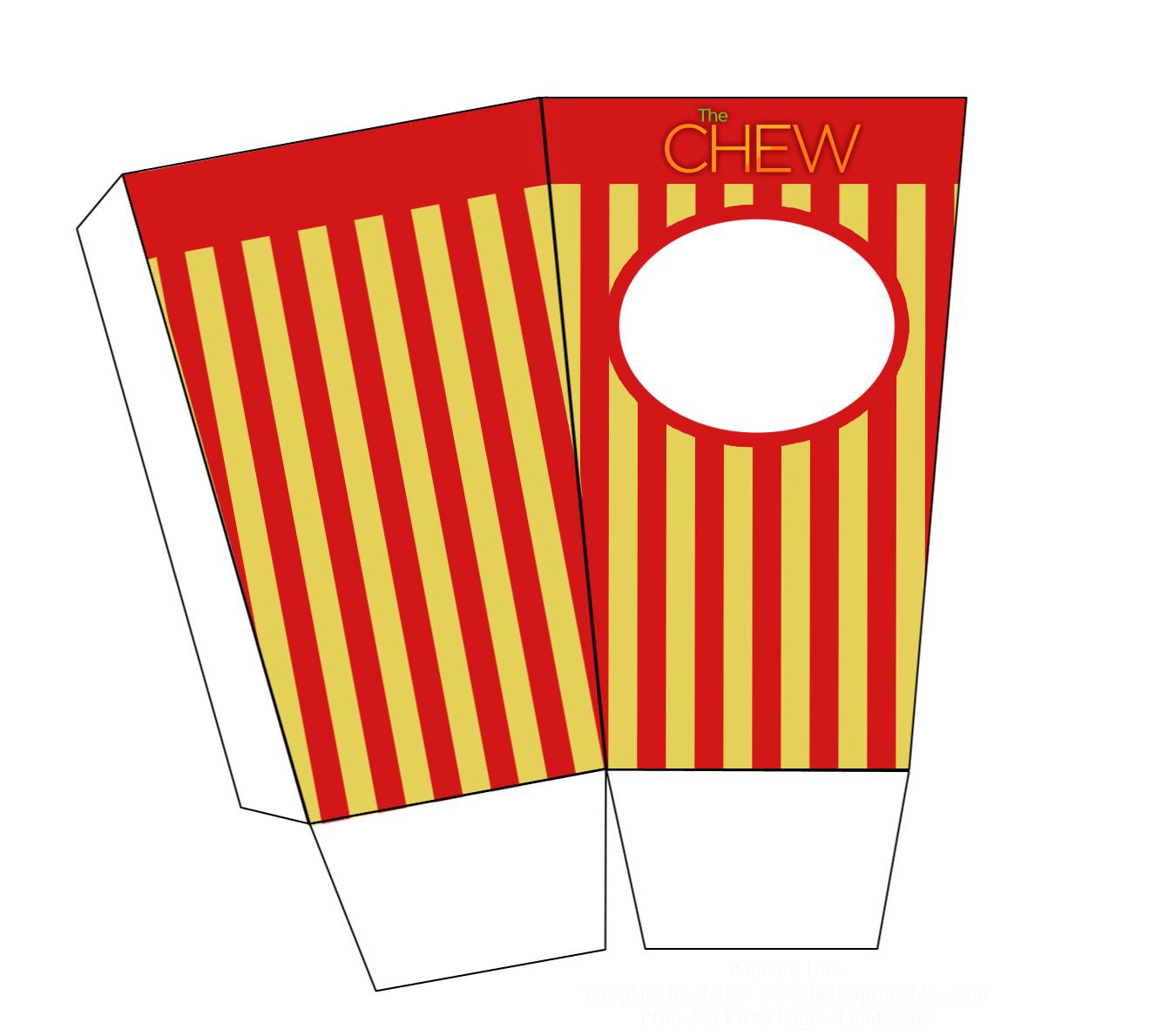1327x1189 Carla's Custom Popcorn Boxes The Chew