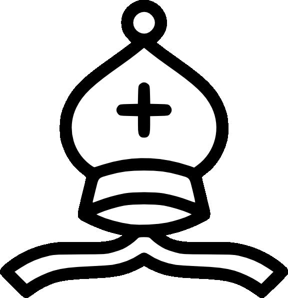 576x596 Pope Hat Black White Clipart