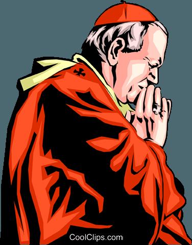 376x480 Pope John Paul Ii Royalty Free Vector Clip Art Illustration