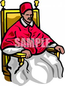 226x300 Pope Sitting In A Large Chair Clipart Picture