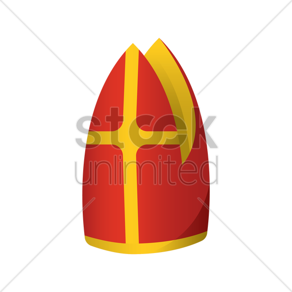 600x600 Pope Hat Vector Image