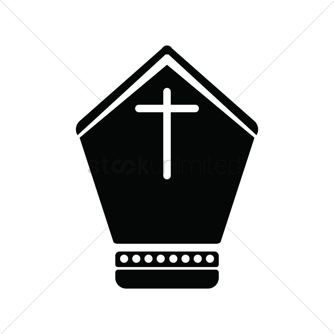 1300x1300 Bishop Hat Vector Image