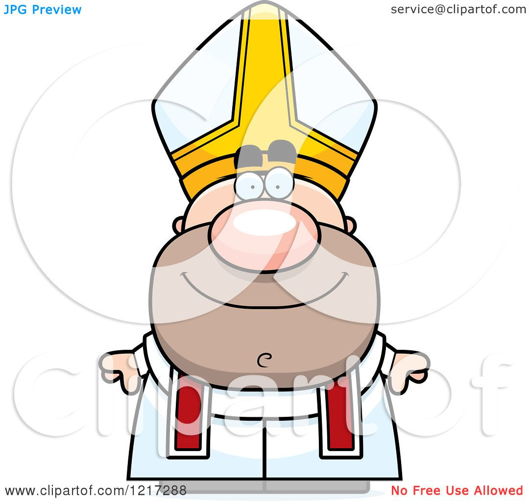 1080x1024 Clipart Of A Happy Pope