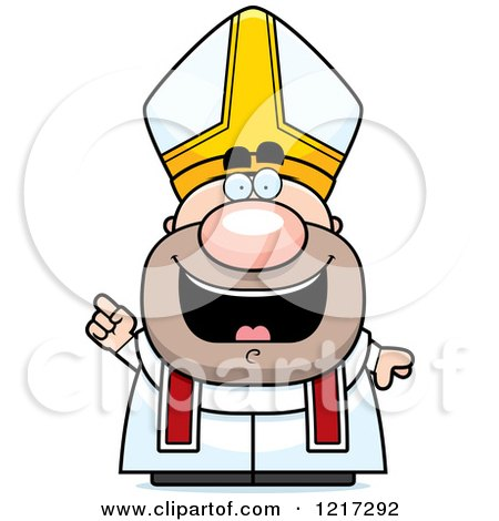 450x470 Clipart Of A Happy Pope With An Idea