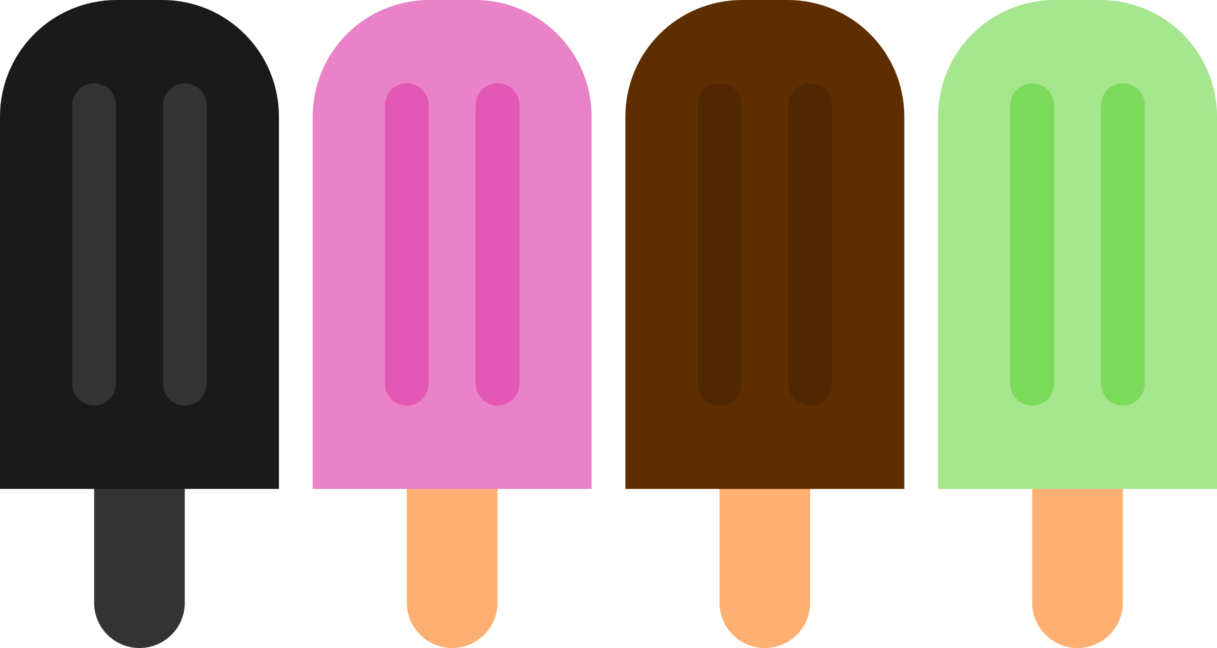 2400x1278 Popsicle Clipart Double