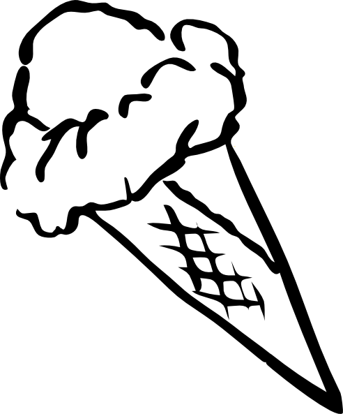 492x593 Ice Cream Clipart Black And White Craft Projects, Black And White