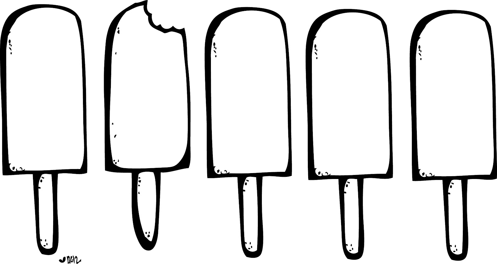 1600x851 Popsicle Clipart Outline