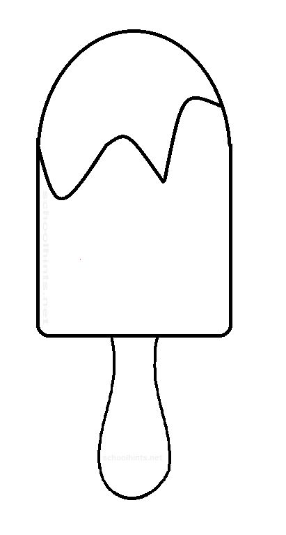 411x767 Popsicle Clipart Black And White