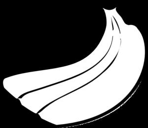 300x261 Banana Clipart Black And White