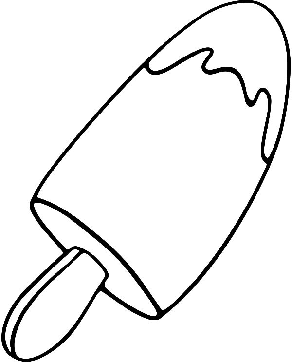 600x743 Yummy Ice Cream Popsicle Coloring Pages Yummy Ice Cream Popsicle