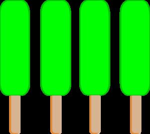 299x267 4 Green Single Popsicle Clip Art
