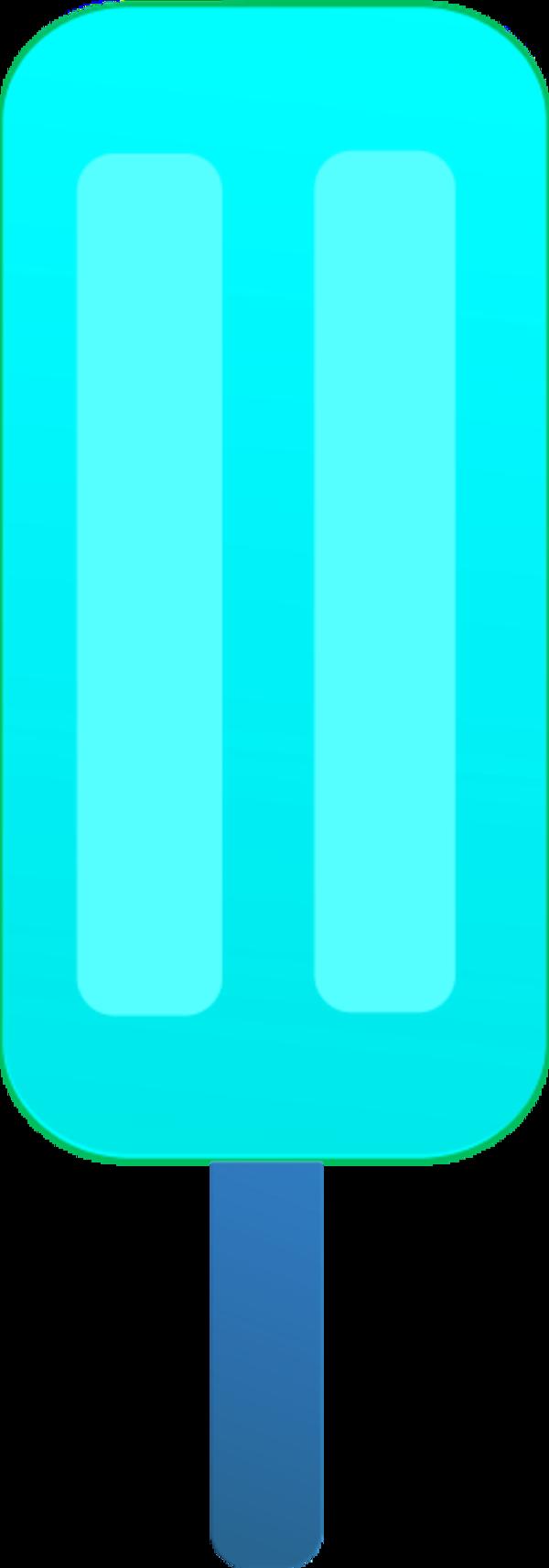 600x1713 Popsicle Clipart Blue
