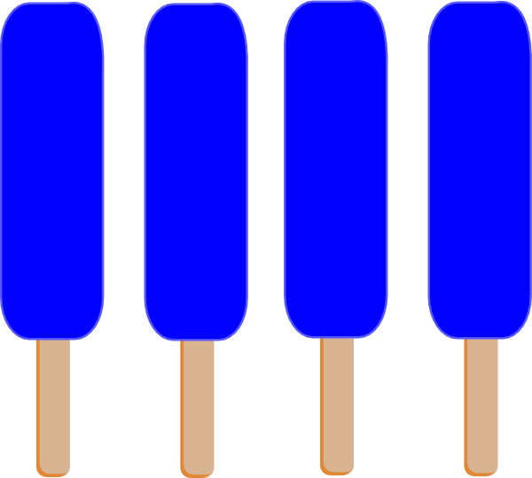 600x539 4 Dark Blue Single Popsicle Clip Art