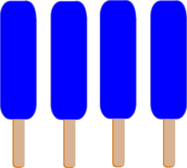 600x539 4 Dark Blue Single Popsicle Clip Art