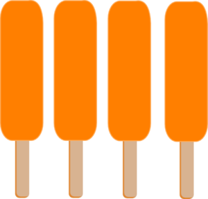 300x288 4 Orange Single Popsicle Clip Art