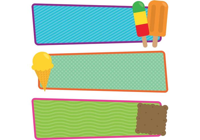 700x490 Free Vector Ice Cream And Popsicle Banners