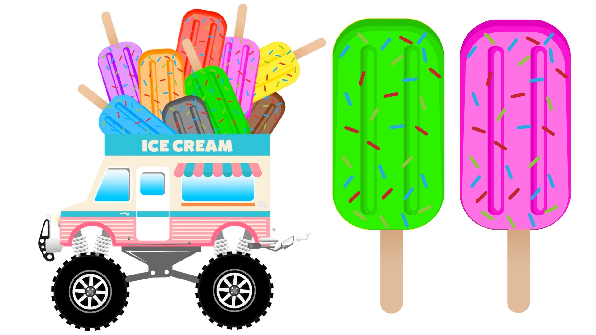 1920x1080 Learn Colors With Popsicle Ice Cream Colors For Kids To Learning