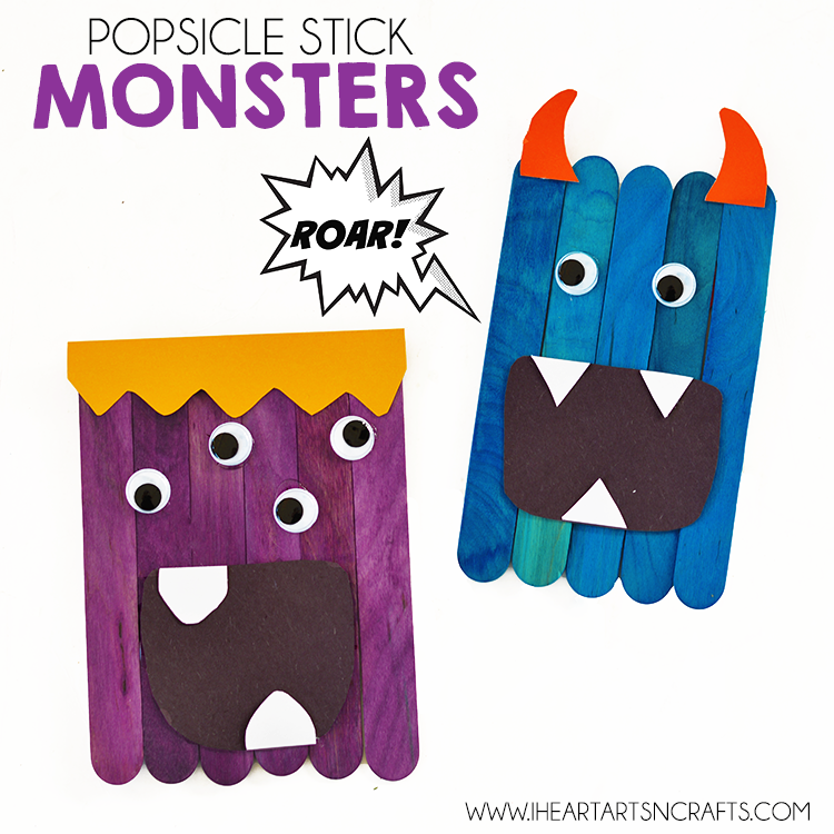 750x750 Popsicle Stick Monsters
