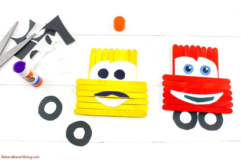 800x533 Disney Pixar Cars Popsicle Stick Crafts For Kids