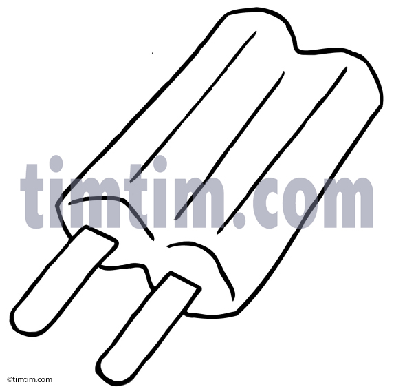 573x565 Free Drawing Of A Popsicle Stick Bw From The Category Cooking