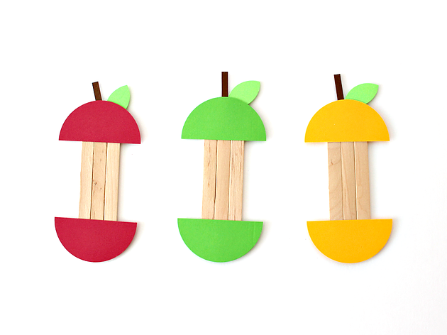 630x472 Popsicle Sticks Apple Craft Home White House Crafts