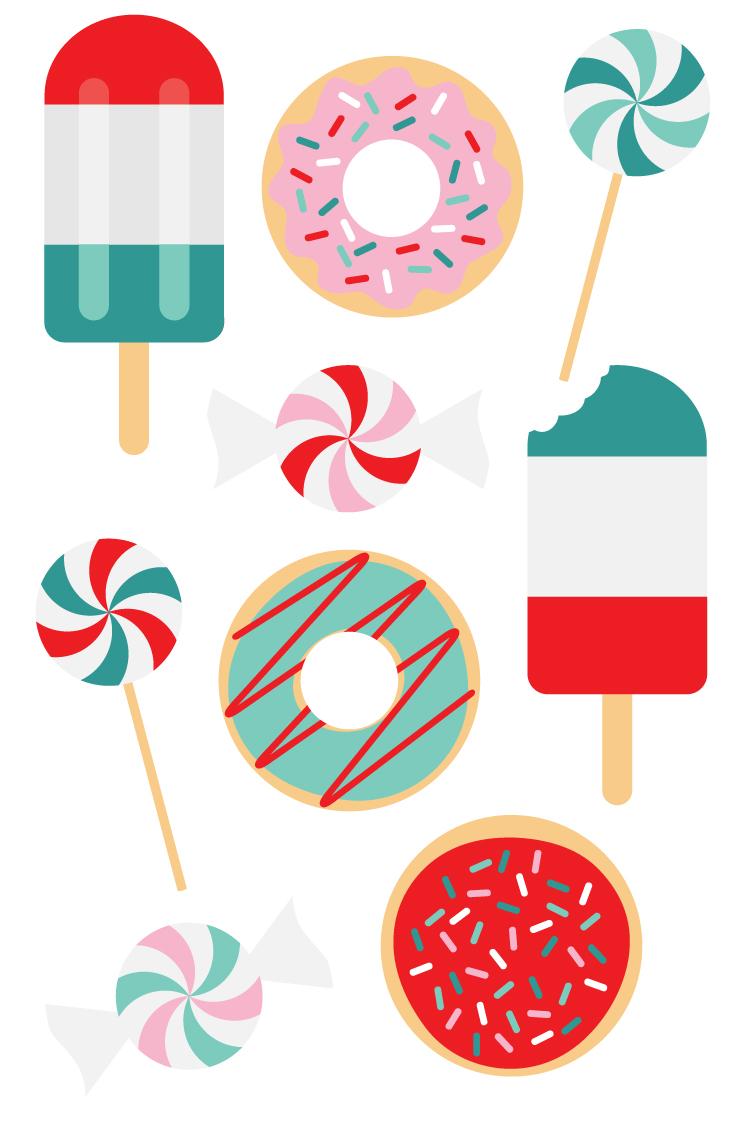 750x1125 Popsicle Cut Files + Clip Art