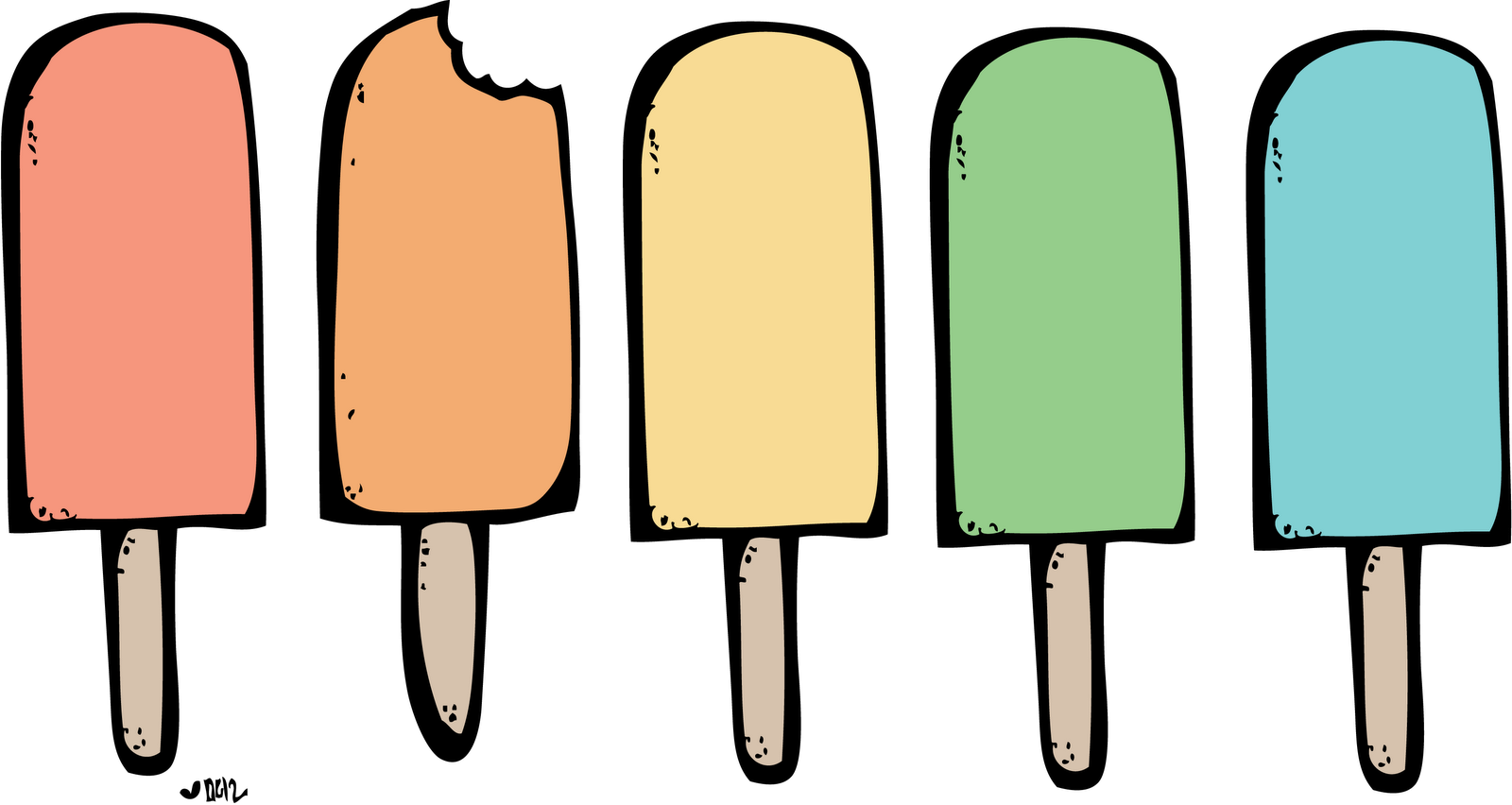 1600x852 Popsicle Clipart Black And White