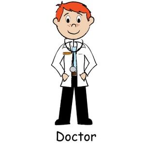 300x300 Stick Figure Doctor Clipart