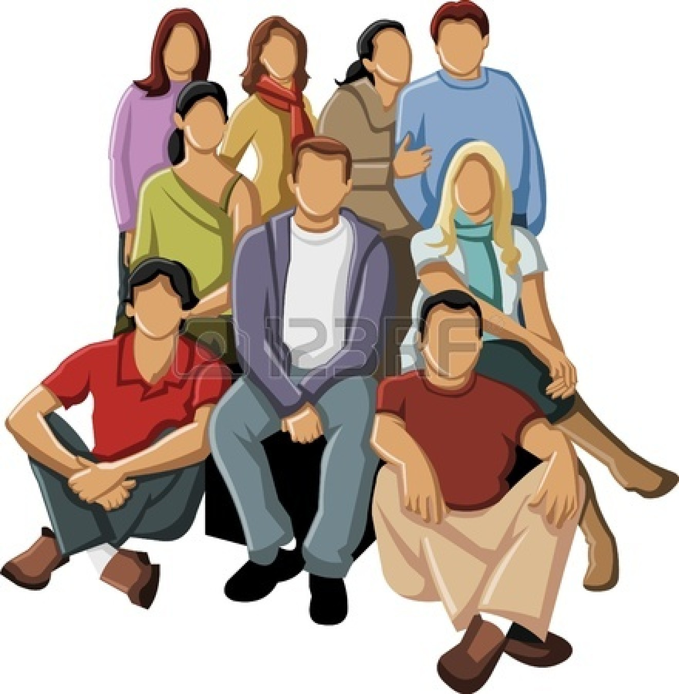 1320x1350 Free Clipart Group Of People