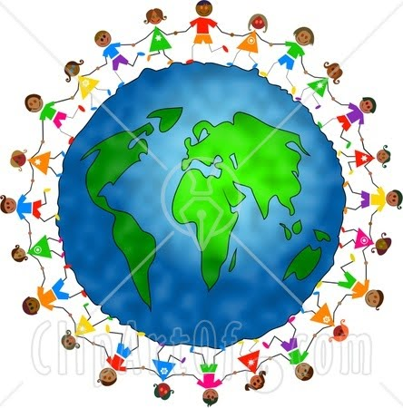 444x450 Friends Holding Hands Around The World Clipart Panda