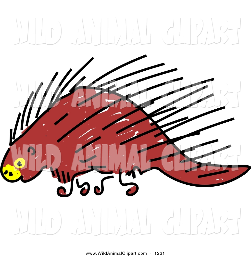 1024x1044 Clip Art Of A Sketched Brown Porcupine By Prawny