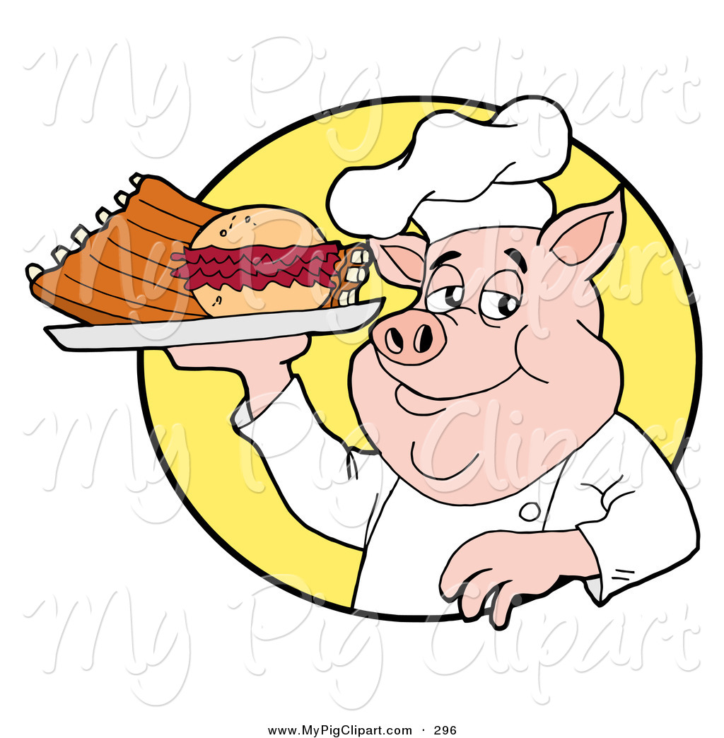 1024x1044 Swine Clipart Of A Chubby Chef Pig Holding A Pulled Pork Burger