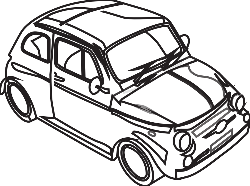 830x619 Black And White Car Drawings Collection